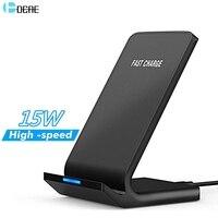 DCAE 15 Вт Qi Беспроводное зарядное устройство для iPhone 11 Pro X XS Max XR 8 USB C Быстрая зарядка Подставка для Samsung S10 S9 Note 10 9