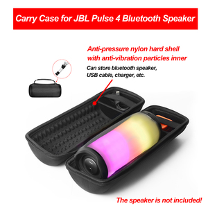 Image 2 - Gosear تخزين مقاوم للصدمات والغبار يحمل غطاء واقٍ مزخرف لهاتف آيفون مع حزام كتف لملحقات JBL Pulse 4 سمّاعات بلوتوث