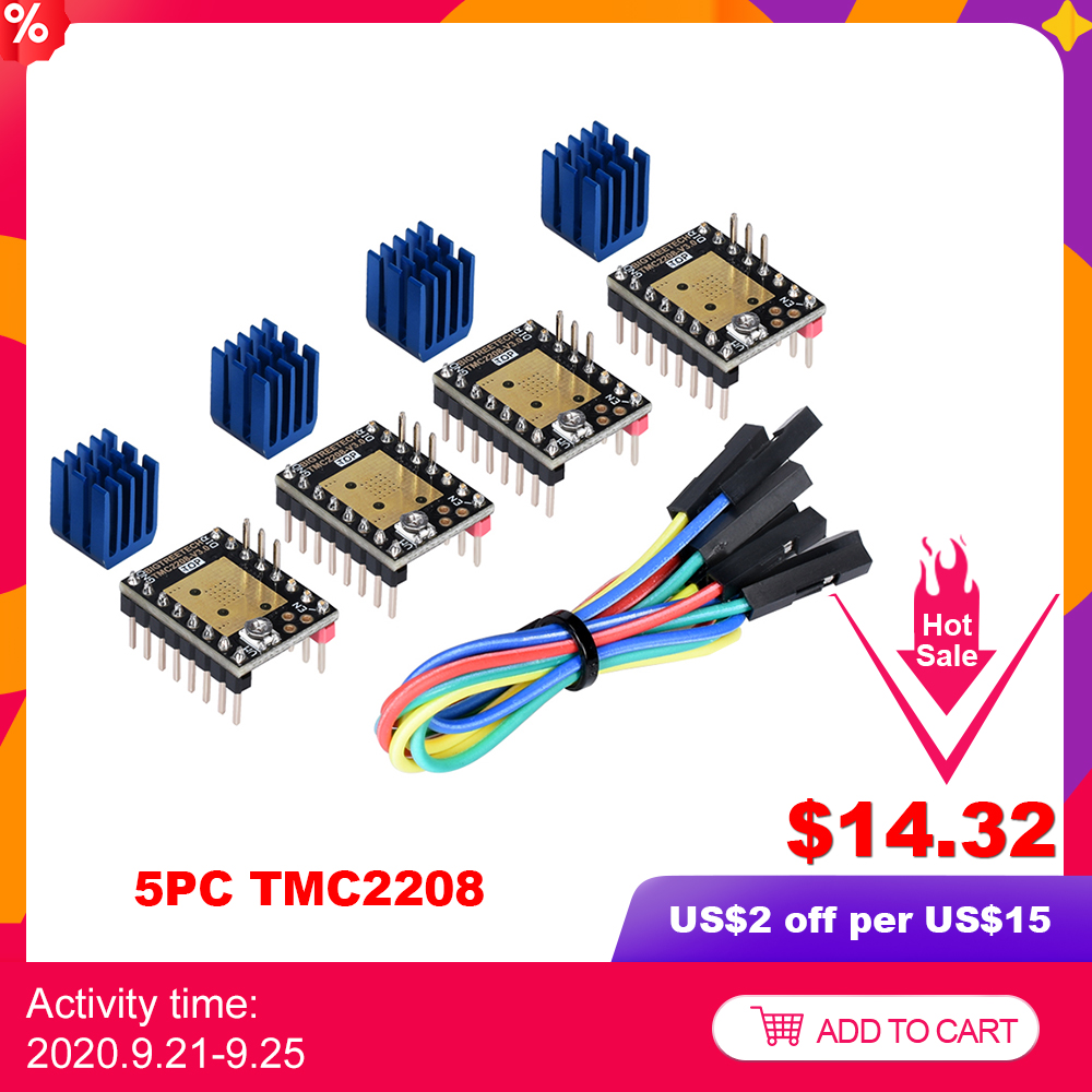 BIGTREETECH TMC2208 V3 0 Stepper Motor Driver UART 3D Printer Parts TMC2130 TMC2209 For SKR V1 4 MKS Sgen Ramps 1 4 SKR MINI E3