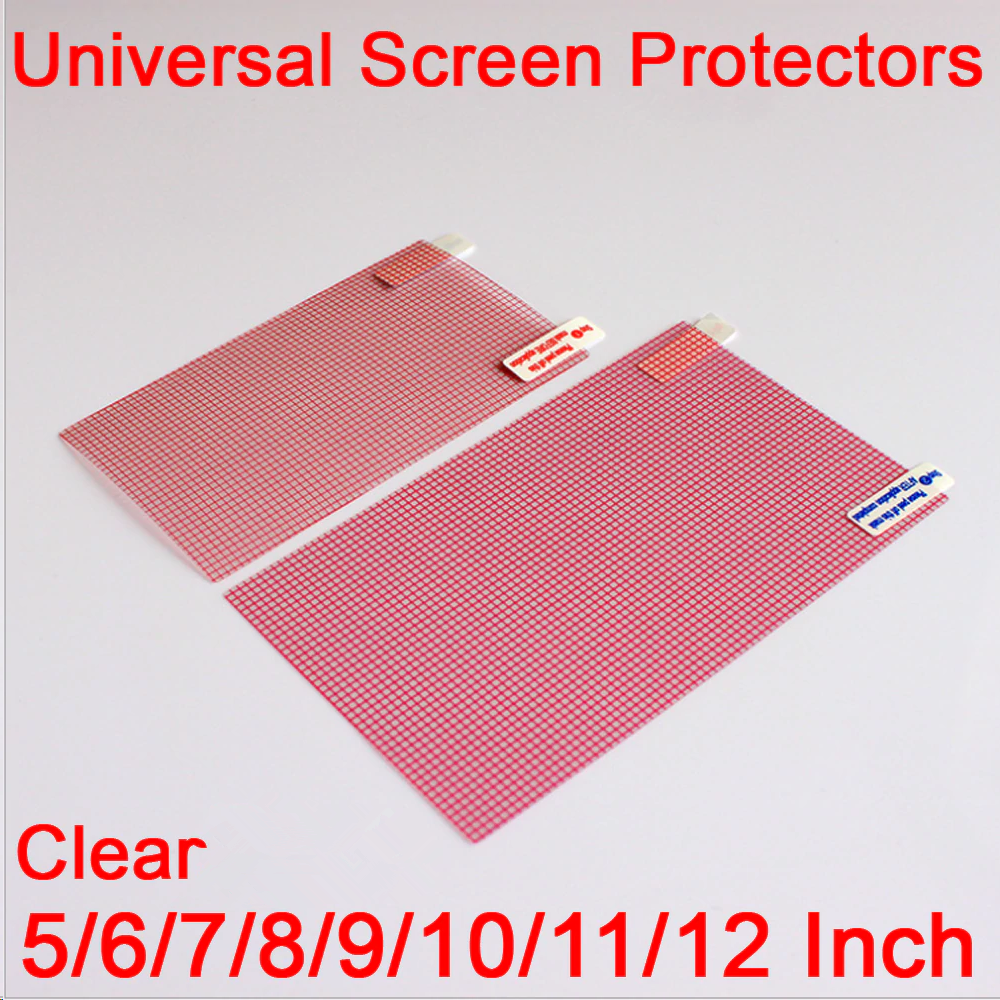 Clear LCD Screen Protector Cover 5/6/7/8/9/10/11/12 Inch Mobile Smart Phone Tablet GPS MP4 Universal Protective Film