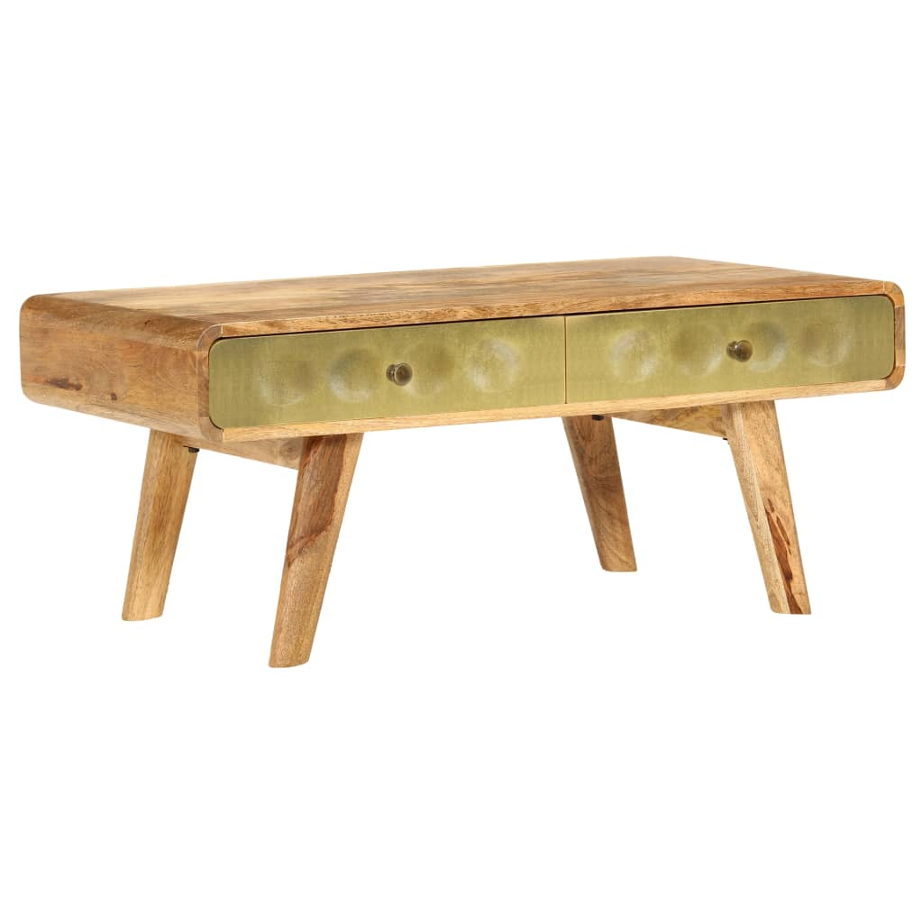 VidaXL Coffee Table Solid Mango Wood 90x50x40 Cm
