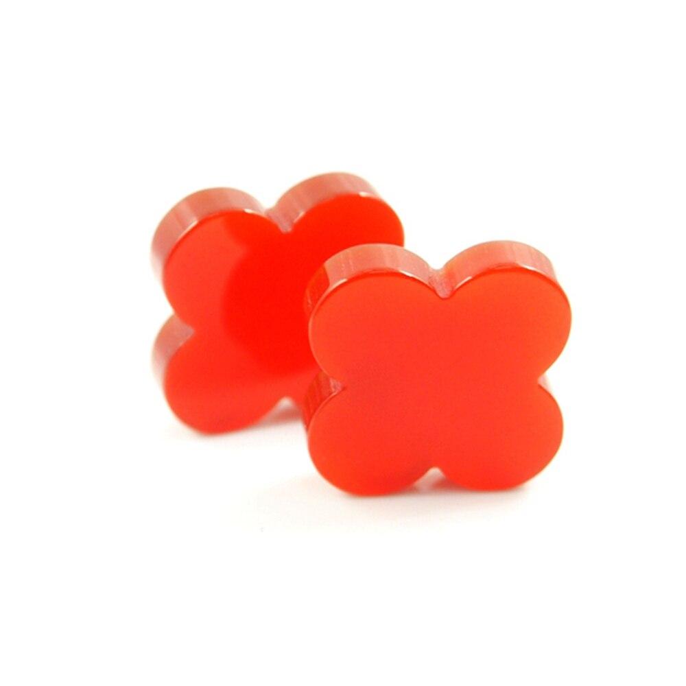 12*12mm 50 pièces/beaucoup de pierres précieuses d'agate rouge trèfle à quatre feuilles pour la fabrication de pendentif
