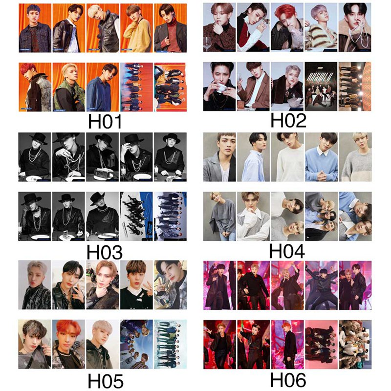 10pcs/set Kpop ATEEZ Photocard Postcard TREASURE EP.FIN ALL TO ACTION Album Photo Card ATEEZ KPOP Lomo Cards New Arrivals