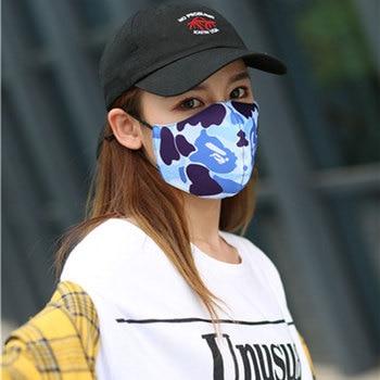 Women Fashion Mask Breathable Cotton Black Pink Reusable Face Maske Camouflage  Washable Mouth Face Mask