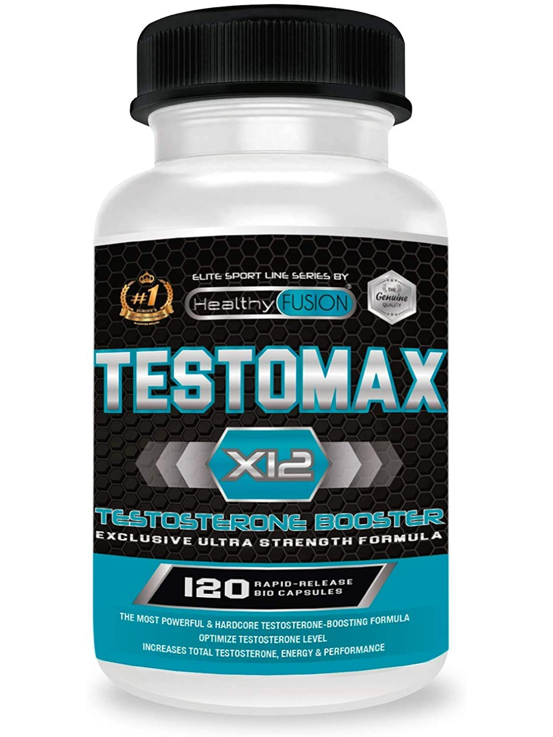 Potent Booster pure testosterone | Maca Andean and taurine | Increases the mass, the performance and the Libido | 120 Caps