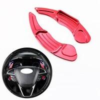 Auto Rot DSG Lenkrad Shift Paddle Shifter Verlängerung Fit Für Ford Mondeo Taurus Rand Zubehör