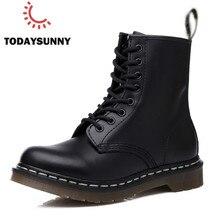 Casual Men Boots Martens Man Leather Shoes Ankle Boots Doc Cowboy Waterproof Mot