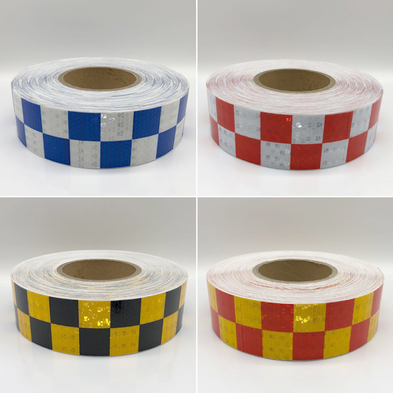 20Roll Wholesal Car Styling Reflective Sticker For Car Reflective Conspicuity Tape With Yellow/Black/White/Red/Blue Colors