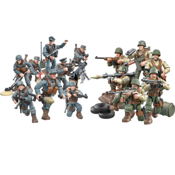 1:35 scale military Germany army forces action figures world war Battle Normandy Rhineland mega block ww2 weapon gun brick toy