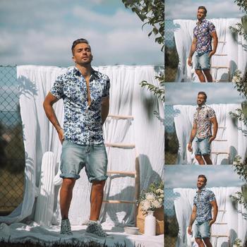 Camisa hawaiana de manga corta para hombre a la moda de 2020,...