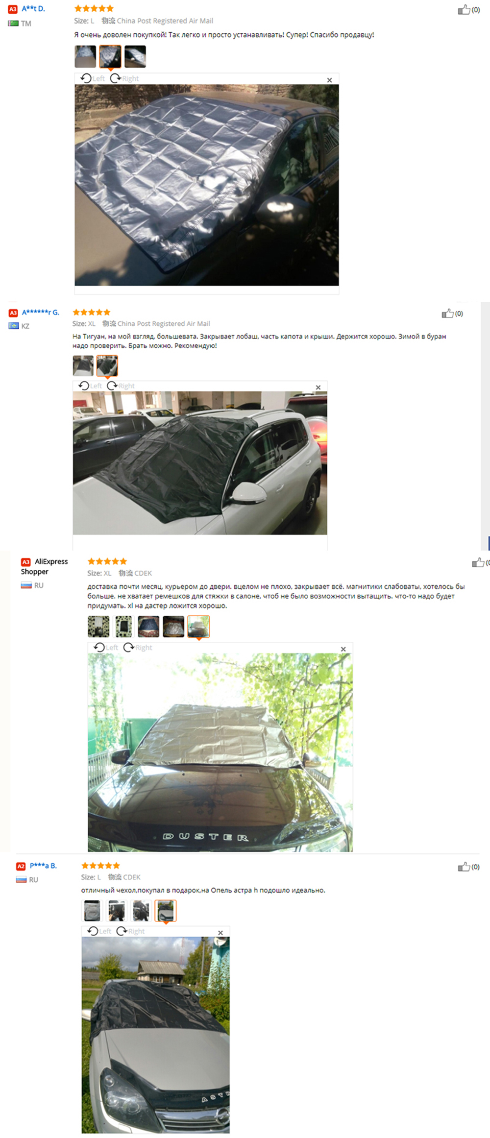 L Snow Cover N\A Car Windshield Snow Cover for Car Front Windscreen Ice Cover with Side Mirror Waterproof Anti-UV and Frost Guard 4-Layer Protection Half Car Cover with Hook Straps Fit Most SUV MPV