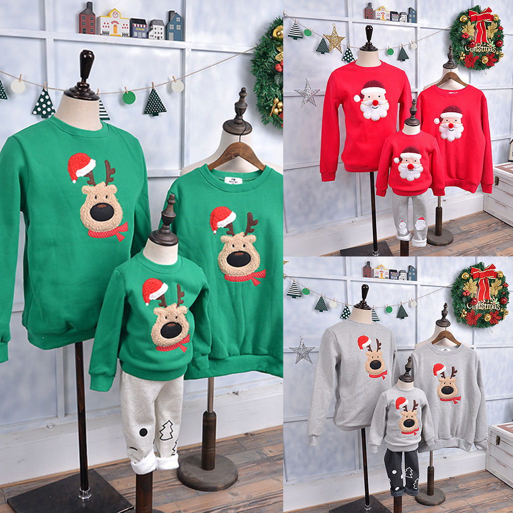 LOOZYKIT Family Look For Dad Mom And Me Father Mother Daughter Son Christmas New Year Sweater Pajamas Family Matching Clothes