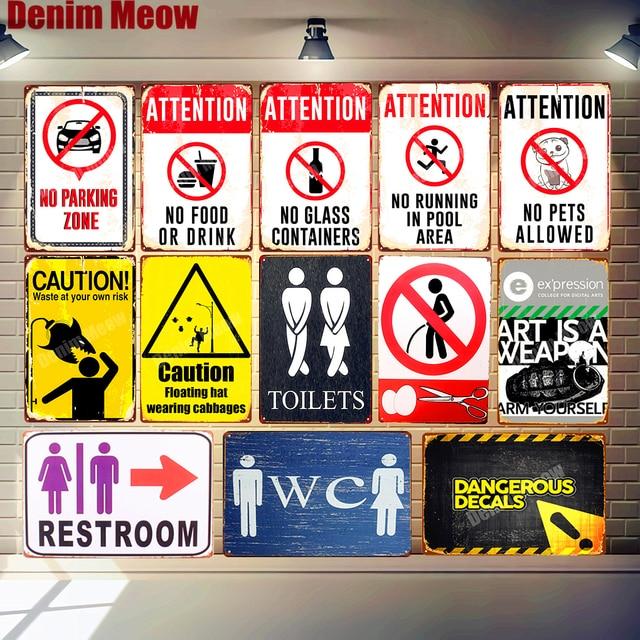 30x20 см табличка для туалета, предупреждающая винтажная металлическая жестяная вывеска, домашний бар, паб, декоративная тарелка, наклейки на ...