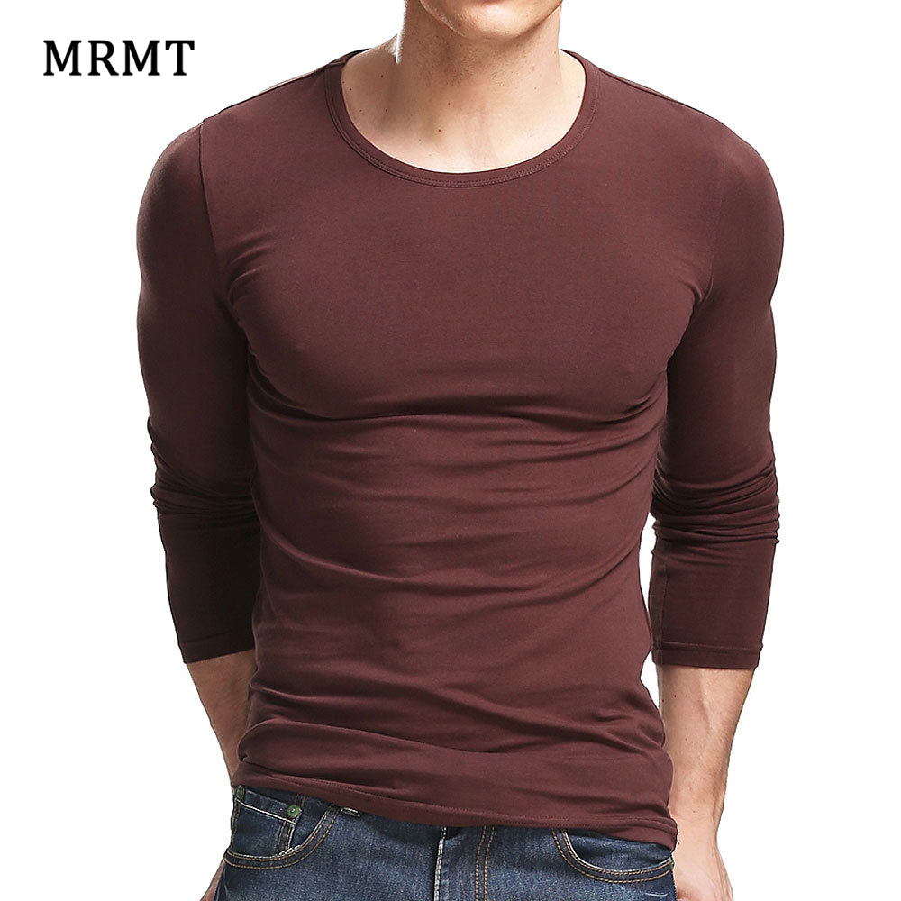 MRMT 2019 Lycra Cotton Men'S   T  -  Shirt   5XL Long Sleeved   T     Shirt   Men Pure Color Casual Mens Long Sleeve Tshirt For Male