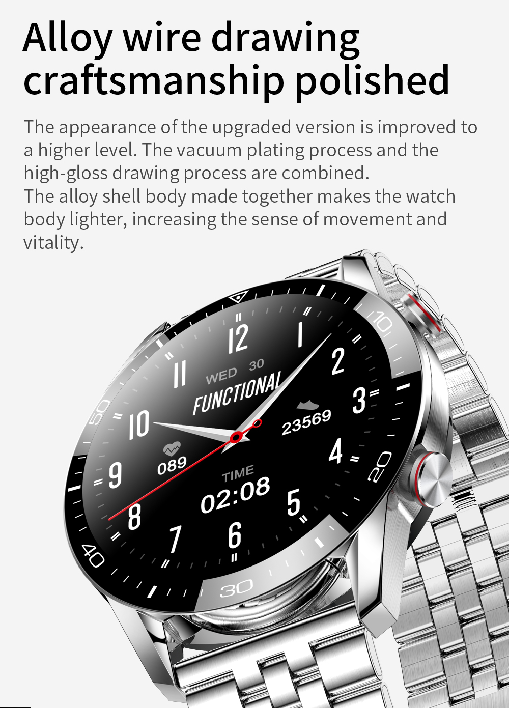 Hadfc65e9eb8d4a6694d766d8087a9565K New Smart Watch Men Bluetooth Call TK2-8 IP68 Waterproof Heart Rate Blood Pressure SmartWatch Fitness Tracker Sports Android IOS