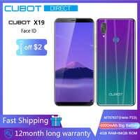 "Cubot X19 Smartphone Helio P23 Octa-Core 5.93"" 2160*1080 FHD+ Display 4000mAh 4GB+64GB Face ID Type-C Twilight Gradient Color"
