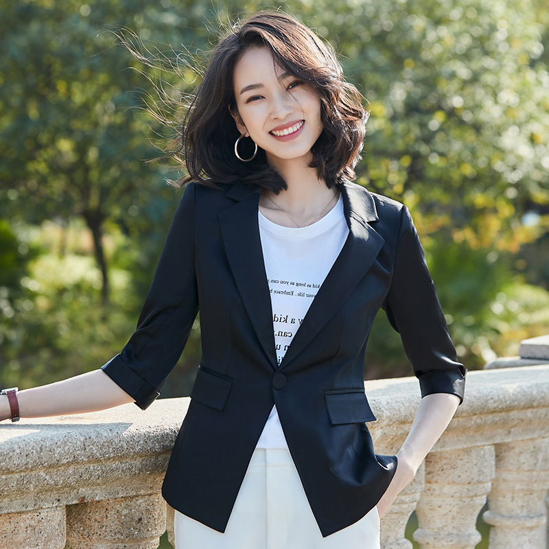 2020 spring and autumn casual ladies professional blazer Stylish high quality ladies jacket small suit feminine Elegant top