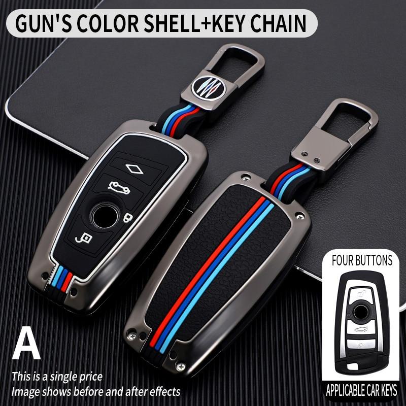 Автомобильный смарт-брелок для ключей из оцинкованного сплава, Чехол для BMW 3 4 5 серии 320i 530i 550i F20 F21 F30 F31 F25 F01 F02 с брелоком