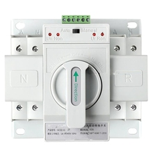 Dual Power Automatic Transfer Switch 2P63A Switch Gear Switch Cb Class Ats Home Single Phase 220V 4p 160a ats dual power diesel generator parts electric control curcuit breaker single three phase ac automatic transfer switch