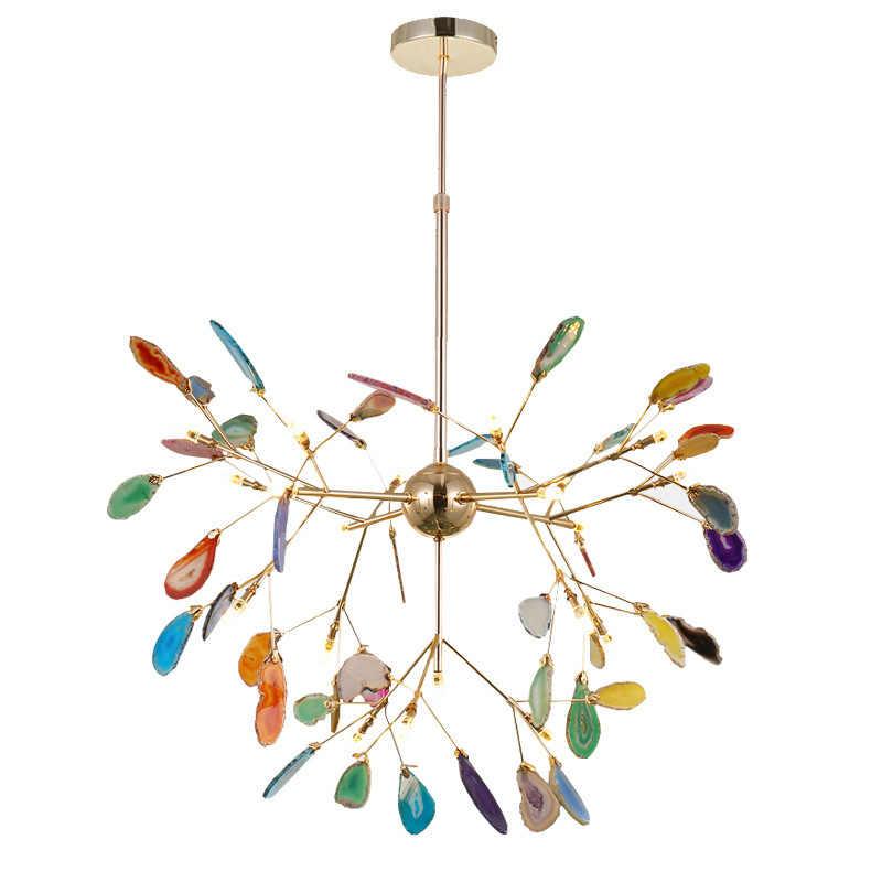 Moderno LED Rosa lampadario per le ragazze camera dei bambini di disegno unico italiano viola lampadario in camera da letto ristorante lampade decorative