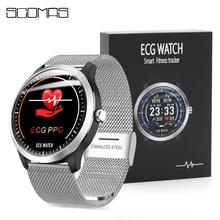 Scomas relógio inteligente n58, smartwatch masculino com tela redonda ips de 1.22 polegadas, monitor de frequência cardíaca e pressão sanguínea, chamadas sms relógio inteligente lembrete de