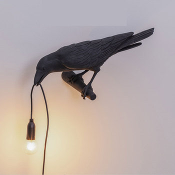 Seletti Bird Crow Wall Lamp Modern Led Wall Sconce Light Fixtures Bedroom Bedside Wall Lamps Bathroom Mirror Lights Home Decor modern led gold wall lamp indoor lighting wall sconce light fixtures corridor bathroom aluminum wall lights outdoor bedside lamp