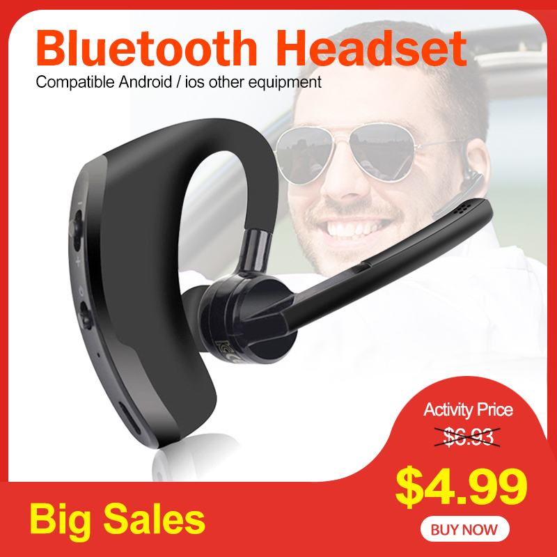 Bluetooth-гарнитура Blutooth V8, беспроводные стерео наушники с микрофоном для iPhone, Samsung, Huawei