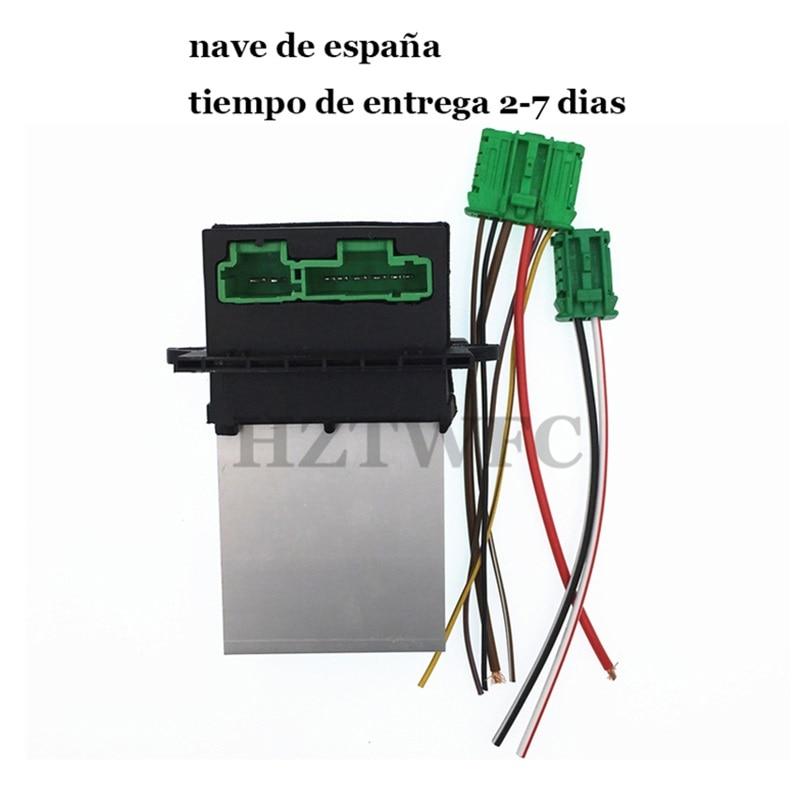 Frete grátis ar condicionado ventilador resistor para citroen para renault megane scenic clio peugeot 207 607 6441 l2 6441l2 7701048