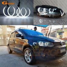 ل Volkswagen VW Polo CrossPolo Vento ممتازة جدا مشرق CCFL عيون الملاك هالو خواتم عدة اكسسوارات السيارات ضوء النهار