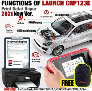 Image 2 - LAUNCH escáner para coche X431 CRP123E OBD2, motor OBD OBDII, ABS, Airbag, SRS, herramientas de diagnóstico de transmisión, actualización gratuita en línea, PK CRP123X