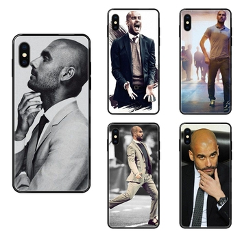 For Samsung Galaxy S5 S6 S7 S8 S9 S10 S10e S20 edge Lite Plus Ultra World Famous Pep Guardiola Shopping Tpu Black Soft Black image