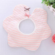 Baby Bib Waterproof Baby Bibs Baby Toddler Feeding Slabber Newborn Burp Cloth 360 Degree Round Infant Stuff High Quality(China)