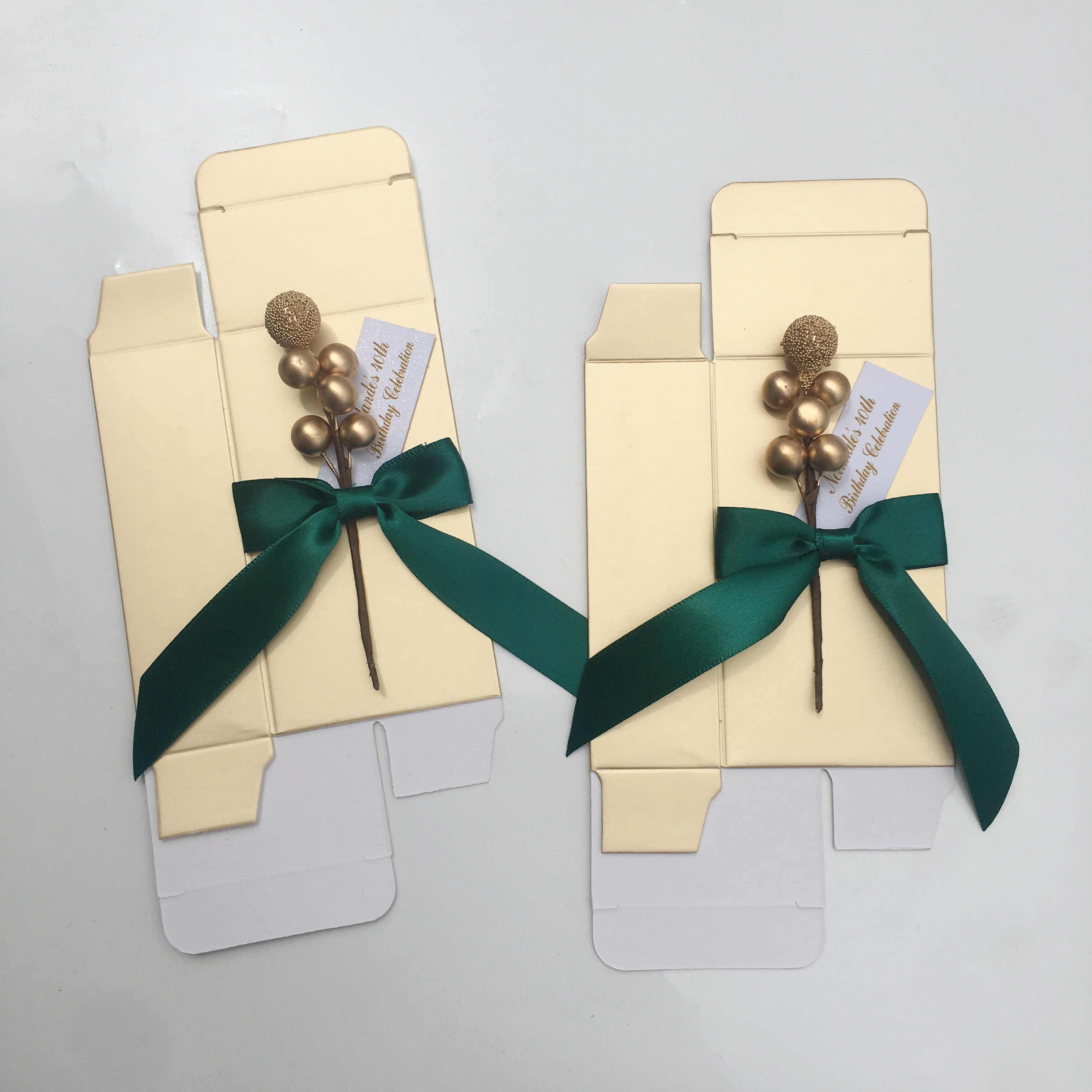 Lote de 50 Uds. De recipiente para chocolate personalizado, Cajas de caramelos para bodas, regalos de devolución, caja para invitados personalizada