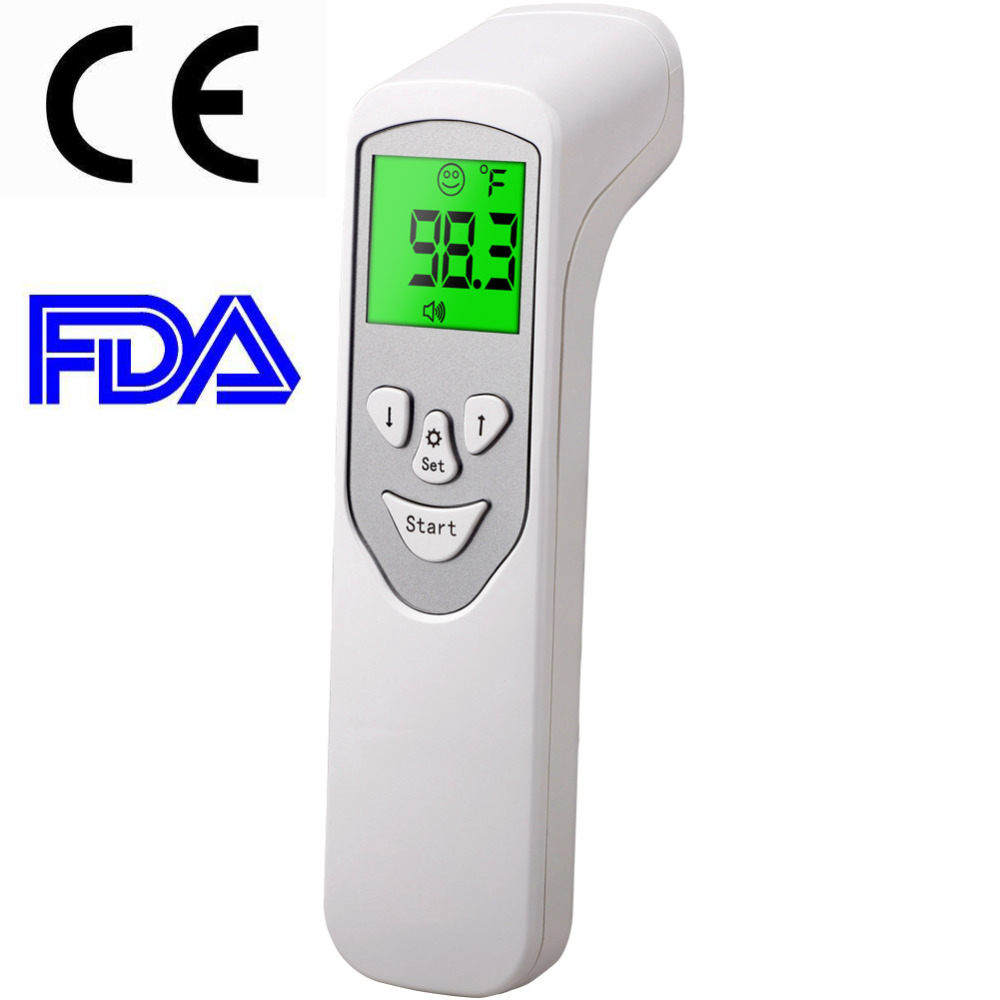 Digital Infrared Baby Forehead Thermometer LCD Non-Contact IR Forehead Temperature Measurement Tool 1pc