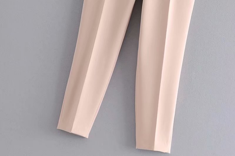 Hadfdba9fc52d44b18c0d9e3b6d77dff8T - Office Lady Black Suit Pants With Belt Women High Waist Solid Long Trousers Fashion Pockets Pantalones FICUSRONG Pencil