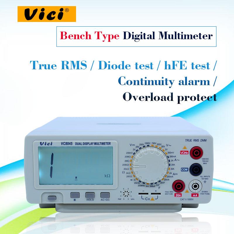 HIgh Precison  Digital Multimeter Bench Top 4 1/2 True RMS DCV/ACV/DCA/ACA DKTD0122 Precision Desktop Multimeter Vici VC8045