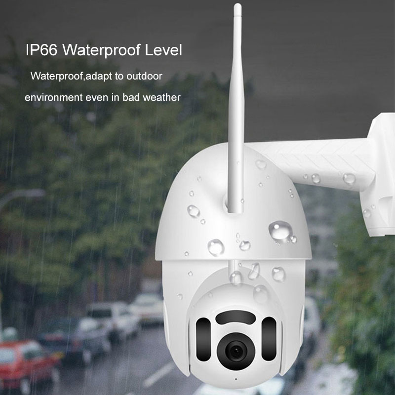 Xiaovv Smart WIFI HD 1080P IP Camera 360° PTZ Rotation H.265 Waterproof Support 8 LEDS Infrared Night Version APP Camera