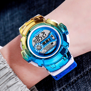 Can Waterproof SYNOKE Watch For Children's Luxury Colorful Electronic Watches Kids Sports Clock Student Hour Boy Girl A3301