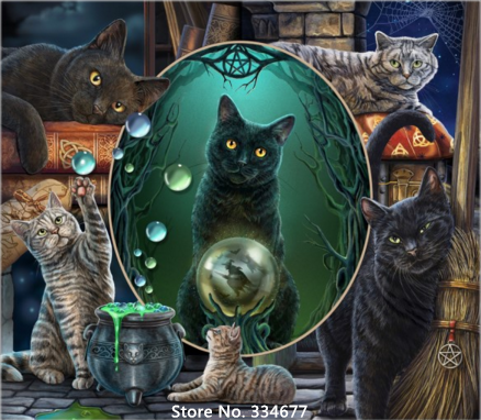 Magical Cat Montage 2 Chart Counted Cross Stitch Patterns Needlework DIY DMC