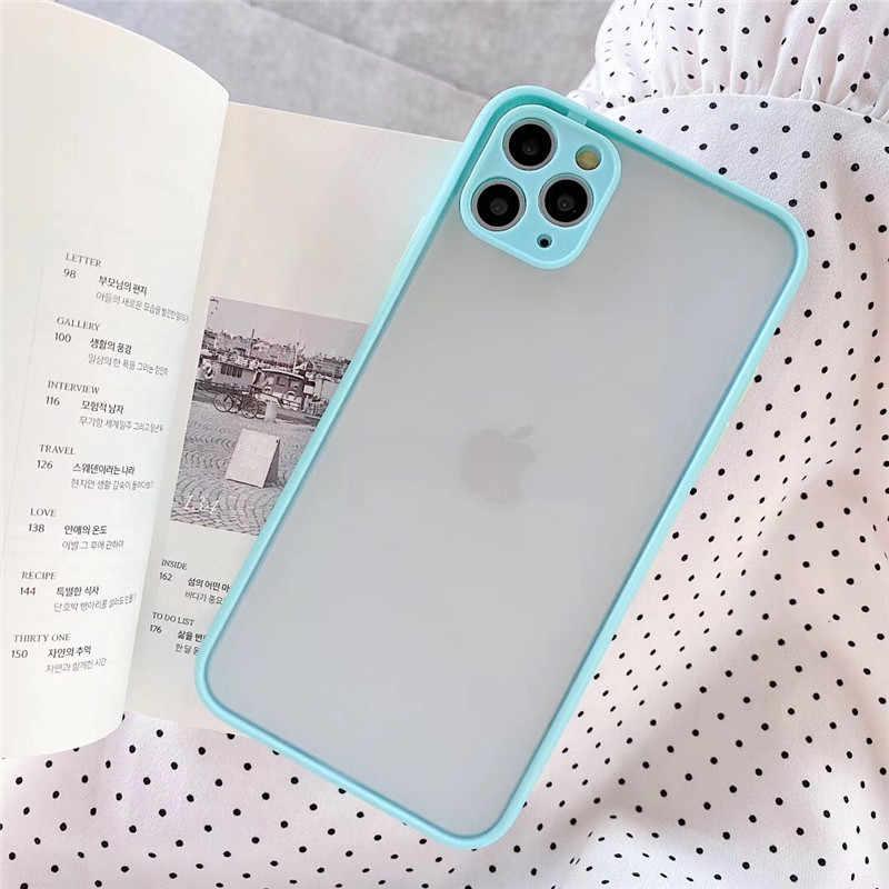 Матовый Прозрачный чехол для телефона iphone 11 pro max 7 8 plus для iphone xr x xs max se 2020 6 6s plus, мягкие чехлы из ТПУ