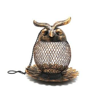Schmiedeeisen Eule Kolibri Vogel Feeder Dekorationen f r Outdoor Garten B ume Pet Liefert V gel
