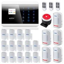 Kerui 8218G IOS Android APP GSM PSTN double réseau sécurité systèmes dalarme à domicile sécurité à domicile système dalarme antivol système sécurisé