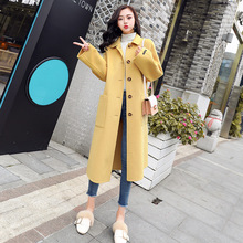 Factory direct sales Autumn and winter new style Women's Wool Coat Long Woolen Coat Single Breasted Slim Type Female pocket coat a1 5 brand new 10 a type factory direct sales a large quantity favorably centre drill