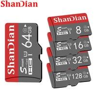 ShanDian الأصلي الذكية SD بطاقة 64GB الدرجة 10 بطاقة الذاكرة SmartSD 8GB 16GB 32GB TF بطاقة SmartSDHC/SDXC للهواتف الذكية/اللوحي-في بطاقات Micro SD من الكمبيوتر والمكتب على