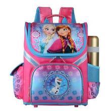 New Girls Cartoon Snow Queen Backpack School Bag Orthopedic