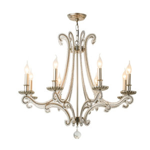 French Cast Metal chandelier f