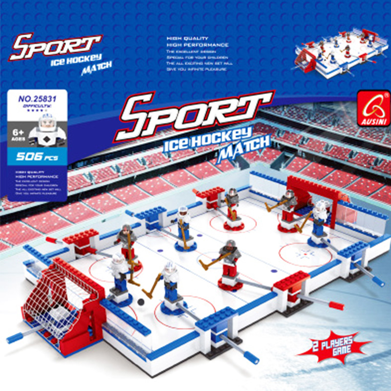 Model Building Kits Compatible With Legoing City Ice Hockey Board Game Football 3d Blocks Educational Toys Hobbies For Children