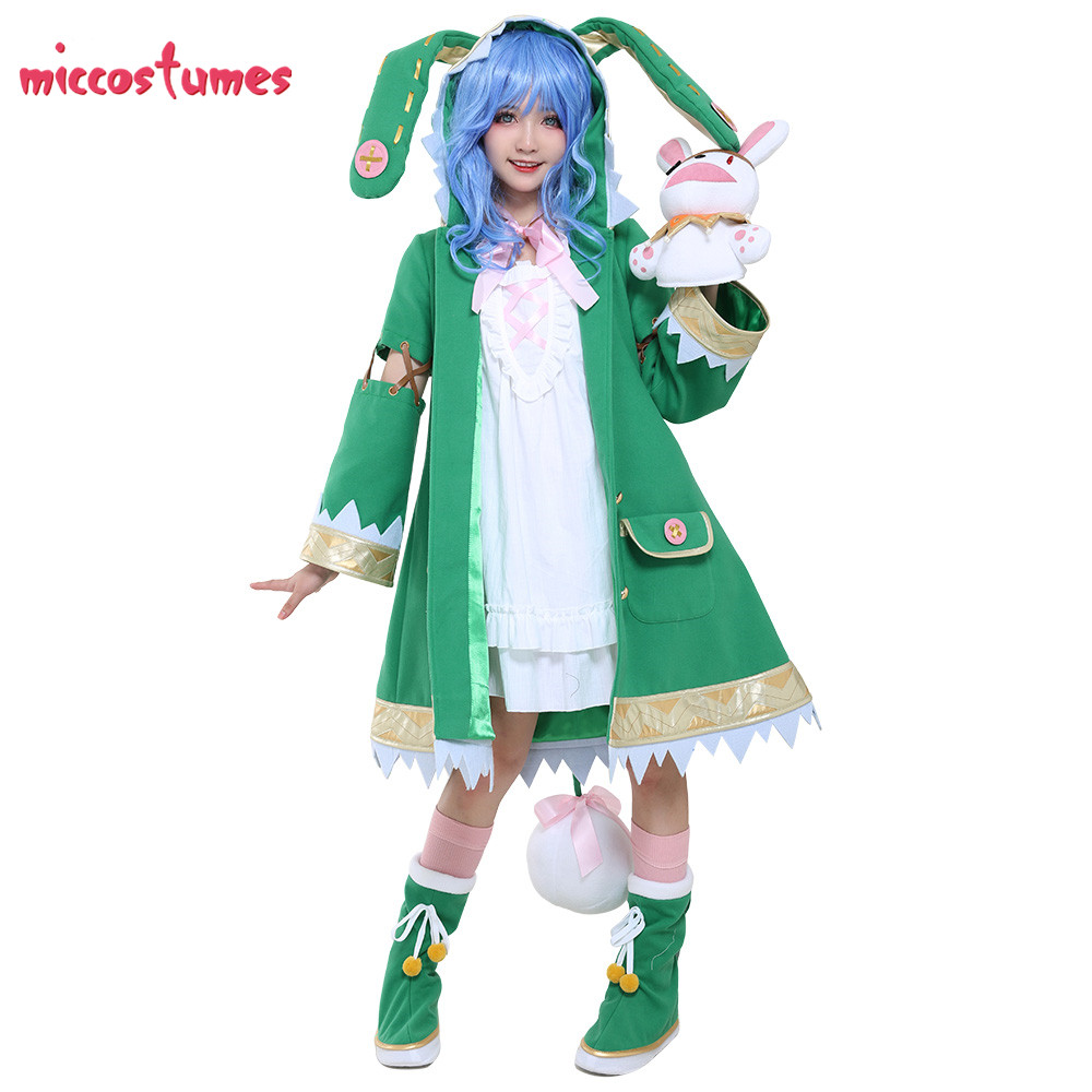 Yoshino Costume Date A Live Cosplay With Bunny Rabbit Hand Puppet Plush Doll