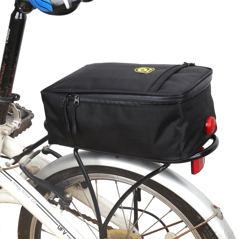 Bicycle Mountain Bike Rear Rack Seat Post  Pannier Luggage Carrier Bag UK P9O0