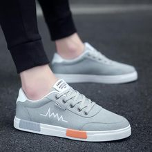 mens shoes casual oxfords spring autumn new fashion sneakers canvas shoes man low top breathable lace up mixed color men shoes Spring/Autumn 2020 Fashion Sneakers Men Canvas Breathable Lace-up Low-cut Light  Mens Shoes Casual Run Shoes Size 39-44
